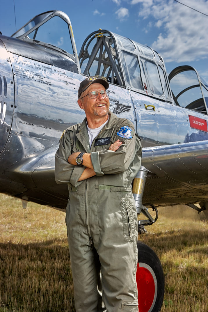Commemorative Air Force pilot Bob Koelol BT13
