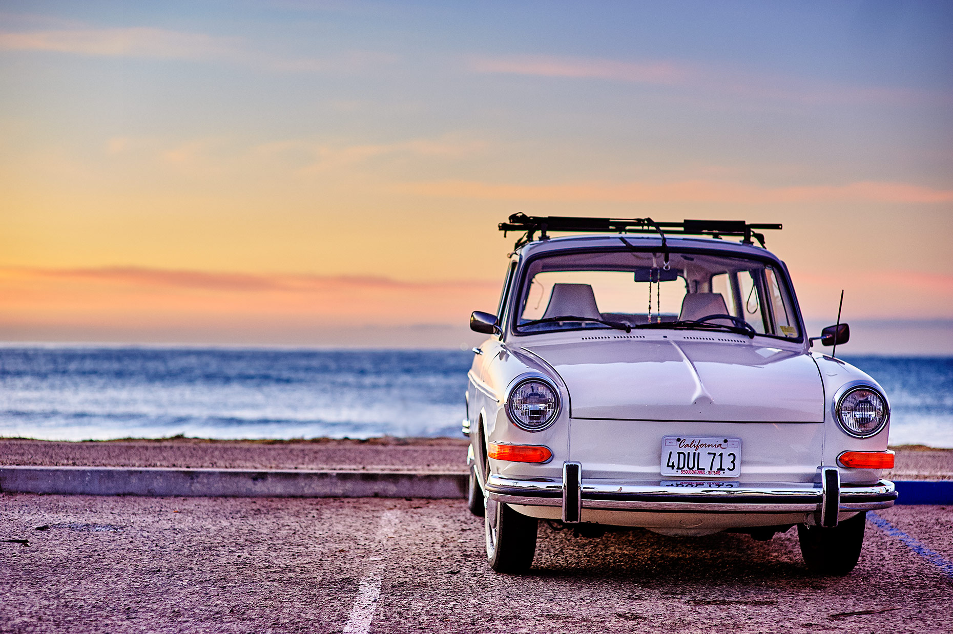 Classic surfer Volkswagen in Ventura California